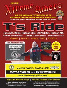 T's Ride 2016 Flyer